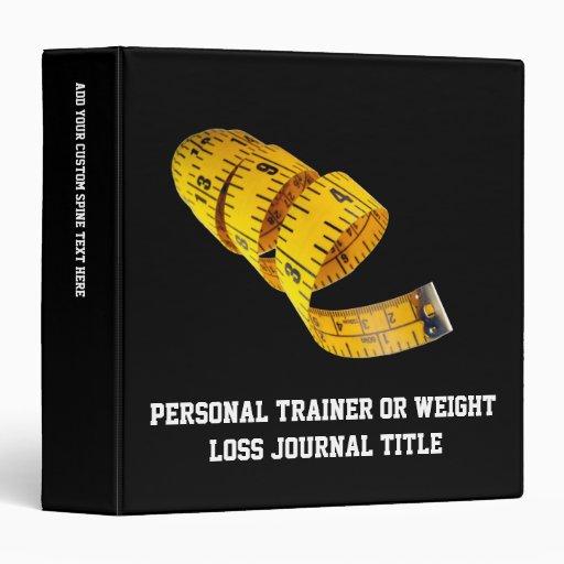 Weight Loss, Yellow Tape Measure Vinyl Binder