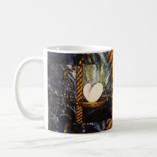 Weight of a heavy and light heart coffee mug