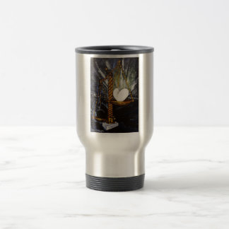 Weight of a heavy and light heart travel mug