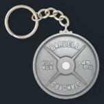 "Weight Plate Keychain 20KG 45LB<br><div class=""desc"">A keychain with a design of a weight on it,  a perfect gift for all budding gym goers!</div>"