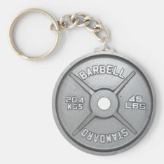 Weight Plate Keychain 20kg 45lb at Zazzle