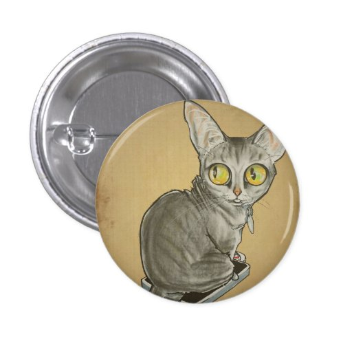 Weight Watcher Cat Caricature.jpg Button