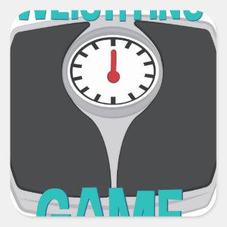 Weighting Game Square Sticker