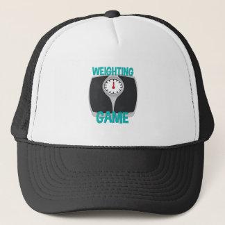 Weighting Game Trucker Hat