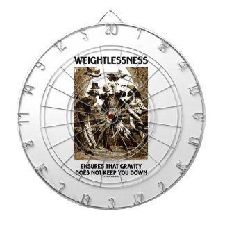 Weightlessness Ensures That Gravity Does Not Keep Dart Board