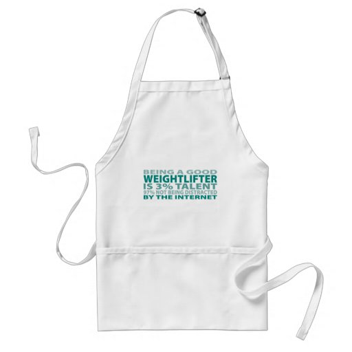 Weightlifter 3% Talent Adult Apron
