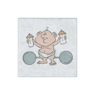 Weightlifter Baby Stone Magnet