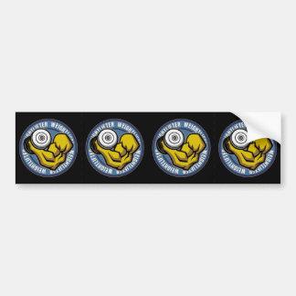 Weightlifter Barbell Curl Bumper Sticker
