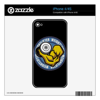 Weightlifter Barbell Curl Decals For The iPhone 4
