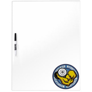 Weightlifter Barbell Curl Dry Erase Whiteboards