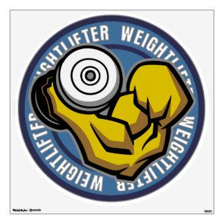 Weightlifter Barbell Curl Wall Sticker