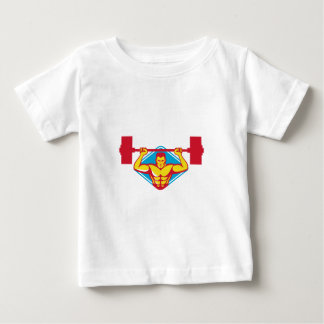 weightlifter body builder lifting weights  retro baby T-Shirt