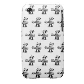 Weightlifter de la panda del bebé 3d carcasa para iPhone 3