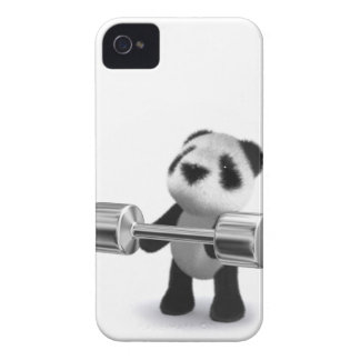 Weightlifter de la panda del bebé 3d Case-Mate iPhone 4 carcasa