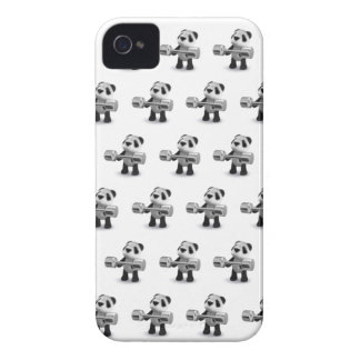 Weightlifter de la panda del bebé 3d iPhone 4 Case-Mate fundas