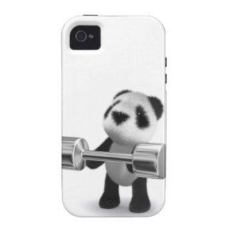 Weightlifter de la panda del bebé 3d iPhone 4 funda