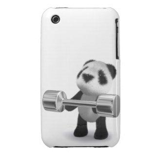 Weightlifter de la panda del bebé 3d funda para iPhone 3