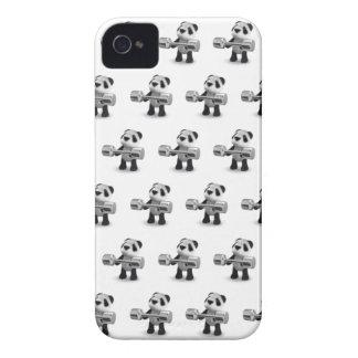 Weightlifter de la panda del bebé 3d iPhone 4 Case-Mate cobertura