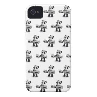 Weightlifter de la panda del bebé 3d iPhone 4 protector