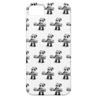 Weightlifter de la panda del bebé 3d iPhone 5 carcasa