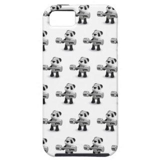 Weightlifter de la panda del bebé 3d iPhone 5 carcasas