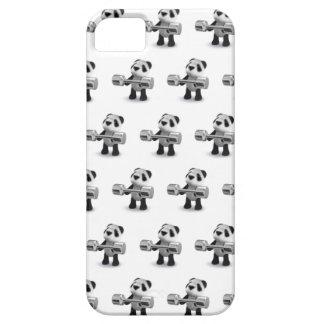 Weightlifter de la panda del bebé 3d iPhone 5 funda