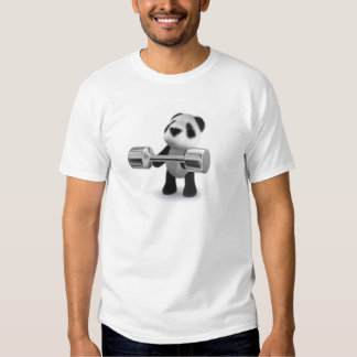 Weightlifter de la panda del bebé 3d playeras