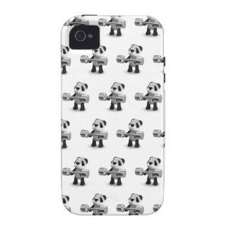 Weightlifter de la panda del bebé 3d vibe iPhone 4 fundas