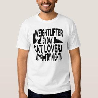 Weightlifter del amante del gato playeras