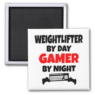 Weightlifter del videojugador imán cuadrado