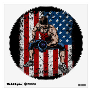Weightlifter Dumbbell Fitness Wall Sticker