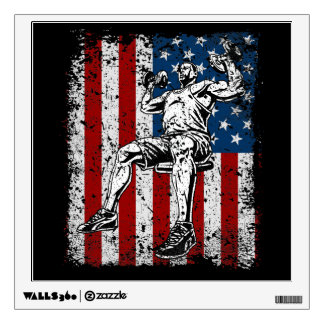 Weightlifter Dumbbell Shoulder Press Wall Decal