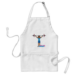 Weightlifter Girl Adult Apron