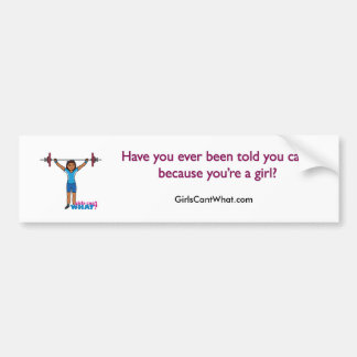 Weightlifter Girl Bumper Stickers