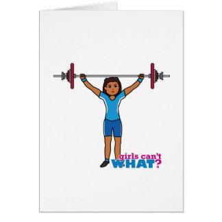 Weightlifter Girl Card