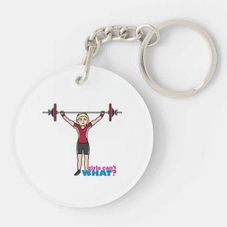 Weightlifter Girl - Light/Blonde Acrylic Keychains