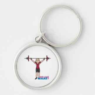 Weightlifter Girl - Light/Blonde Key Chains