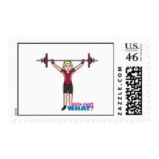 Weightlifter Girl - Light/Blonde Stamp