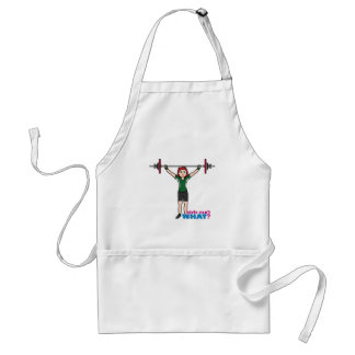 Weightlifter Girl Light/Red Adult Apron