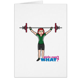 Weightlifter Girl Light/Red Card