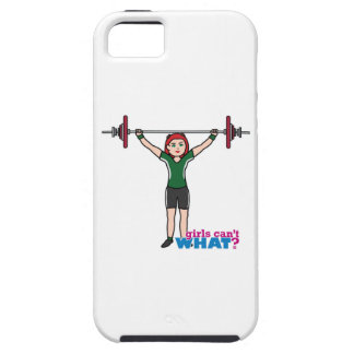Weightlifter Girl Light/Red iPhone SE/5/5s Case