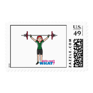 Weightlifter Girl Light/Red Stamp