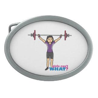 Weightlifter Girl - Medium Belt Buckles