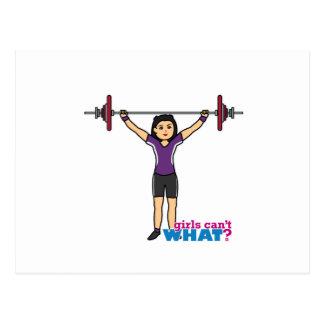 Weightlifter Girl - Medium Post Card