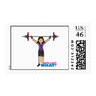 Weightlifter Girl - Medium Postage Stamps