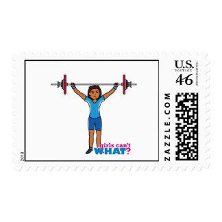 Weightlifter Girl Stamp