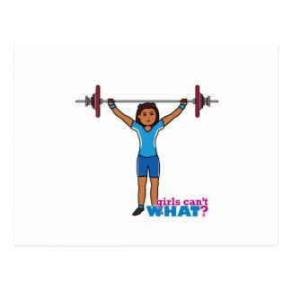 Weightlifter Girl Postcard