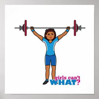 Weightlifter Girl Poster