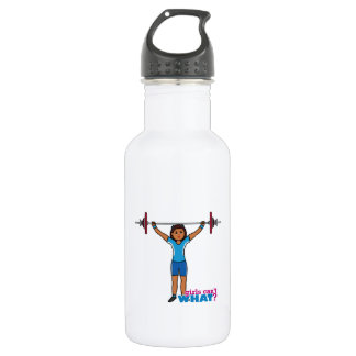 Weightlifter Girl Stainless Steel Water Bottle