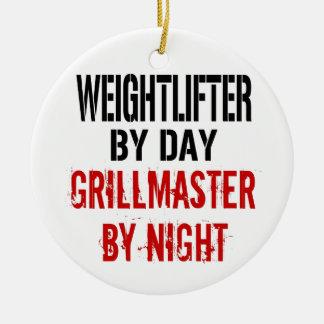 Weightlifter Grillmaster Ceramic Ornament
